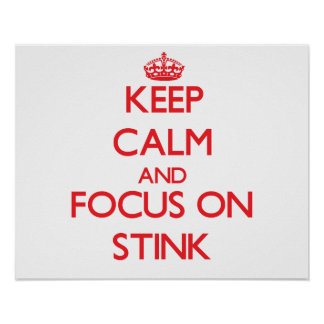 Keep Calm and focus on Stink Poster