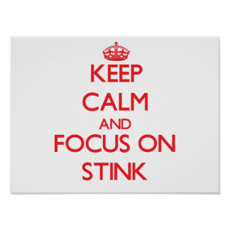 Keep Calm and focus on Stink Print