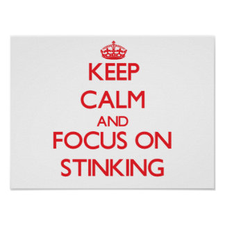 Keep Calm and focus on Stinking Poster