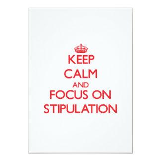 Keep Calm and focus on Stipulation Custom Invitation