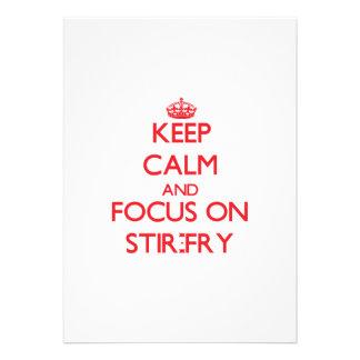 Keep Calm and focus on Stir-Fry Invitation
