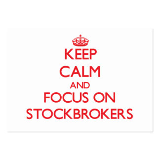 Keep Calm and focus on Stockbrokers Pack Of Chubby Business Cards