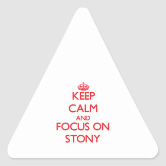 Keep Calm and focus on Stony Triangle Sticker