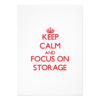 Keep Calm and focus on Storage Personalized Invitations