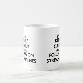 Keep Calm and focus on Streamlines Coffee Mugs