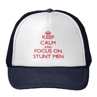 Keep Calm and focus on Stunt Men Mesh Hat