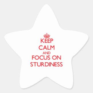 Keep Calm and focus on Sturdiness Star Sticker