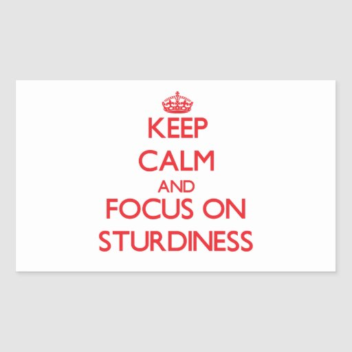 Keep Calm and focus on Sturdiness Rectangular Sticker
