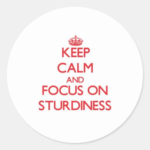 Keep Calm and focus on Sturdiness Round Sticker