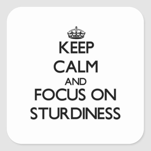 Keep Calm and focus on Sturdiness Square Sticker