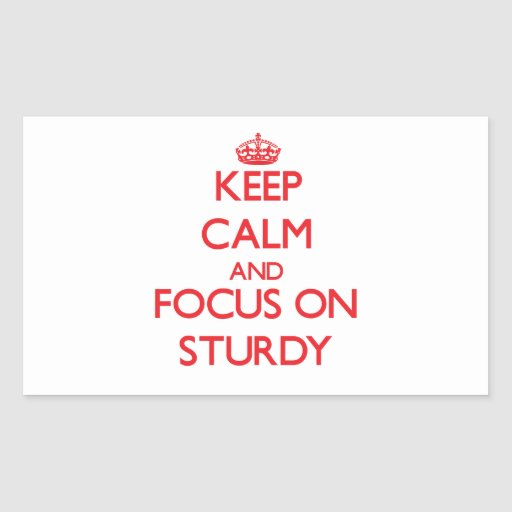 Keep Calm and focus on Sturdy Rectangular Stickers