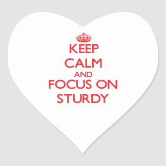 Keep Calm and focus on Sturdy Heart Stickers