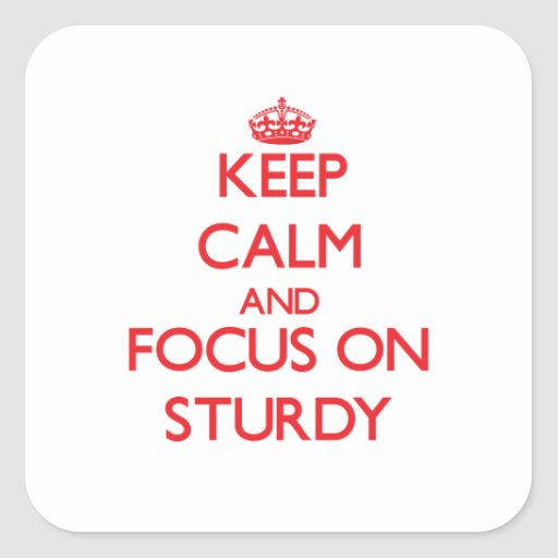 Keep Calm and focus on Sturdy Square Stickers