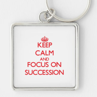 Keep Calm and focus on Succession Key Chain