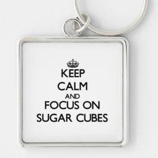 Keep Calm and focus on Sugar Cubes Key Chains