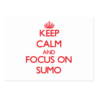 Keep calm and focus on Sumo Business Cards