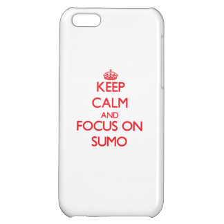 Keep calm and focus on Sumo iPhone 5C Covers