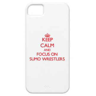 Keep Calm and focus on Sumo Wrestlers iPhone 5 Covers