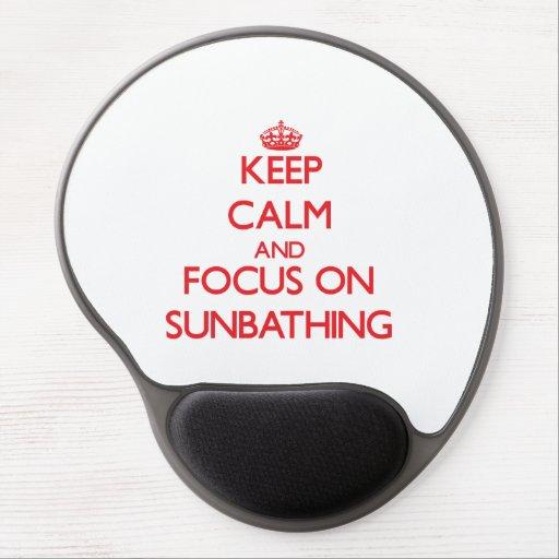 Keep Calm and focus on Sunbathing Gel Mouse Pad
