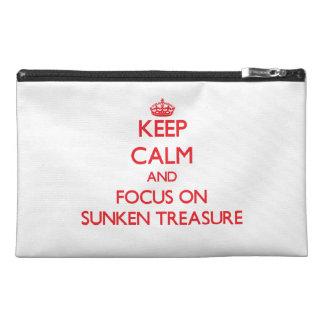 Keep Calm and focus on Sunken Treasure Travel Accessory Bag
