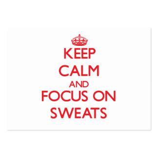 Keep Calm and focus on Sweats Pack Of Chubby Business Cards
