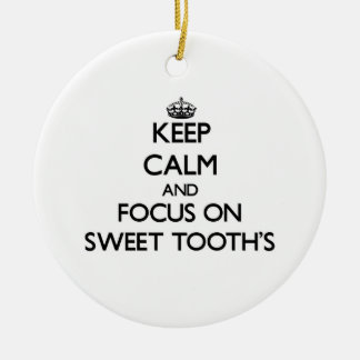 Keep Calm and focus on Sweet Tooth S Christmas Tree Ornament