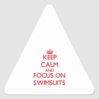 Keep Calm and focus on Swimsuits Sticker