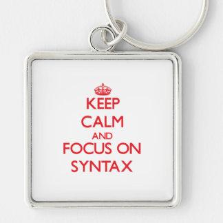 Keep Calm and focus on Syntax Key Chain