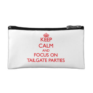 Keep Calm and focus on Tailgate Parties Cosmetic Bags