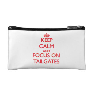 Keep Calm and focus on Tailgates Cosmetics Bags