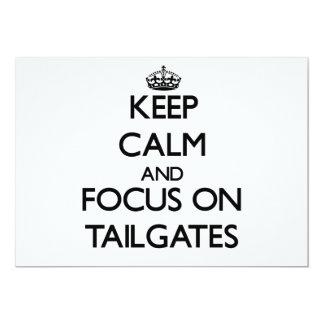Keep Calm and focus on Tailgates Custom Invite