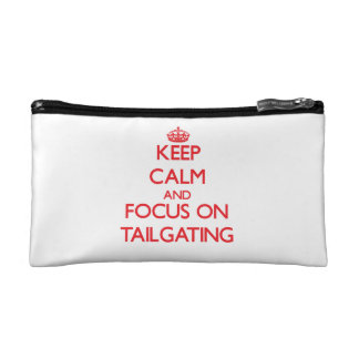 Keep Calm and focus on Tailgating Cosmetics Bags