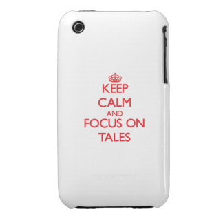 Keep Calm and focus on Tales iPhone 3 Case-Mate Case
