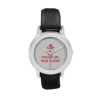 Keep Calm and focus on Talk Radio Wrist Watches
