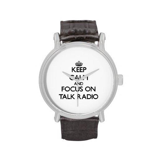 Keep Calm and focus on Talk Radio Wristwatch