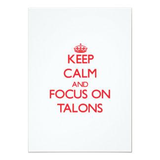Keep Calm and focus on Talons 13 Cm X 18 Cm Invitation Card