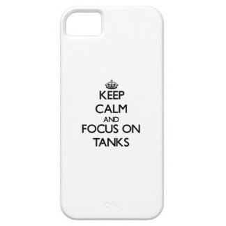 Keep Calm and focus on Tanks iPhone 5/5S Covers