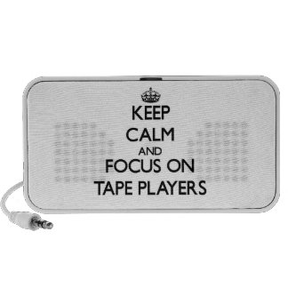 Keep Calm and focus on Tape Players Travel Speaker