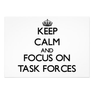 Keep Calm and focus on Task Forces Card