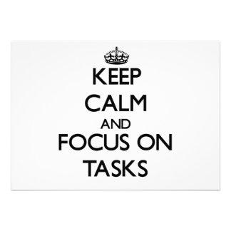 Keep Calm and focus on Tasks Announcements