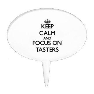 Keep Calm and focus on Tasters Cake Picks