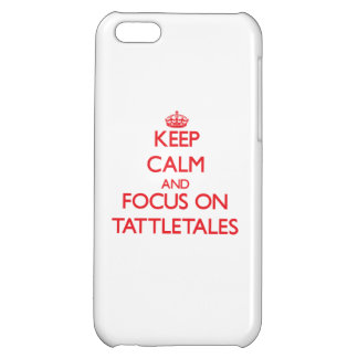 Keep Calm and focus on Tattletales Case For iPhone 5C