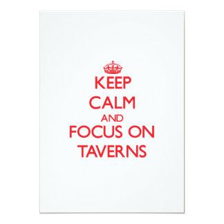 Keep Calm and focus on Taverns Custom Announcement