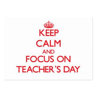 Keep Calm and focus on Teacher'S Day Business Cards