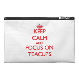 Keep Calm and focus on Teacups Travel Accessories Bags