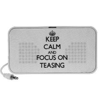 Keep Calm and focus on Teasing Laptop Speakers
