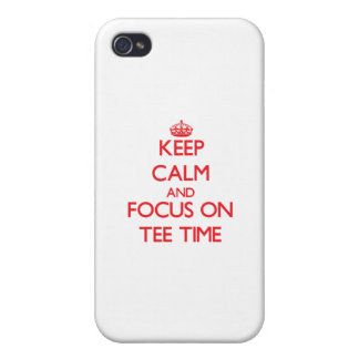 Keep Calm and focus on Tee Time iPhone 4/4S Covers