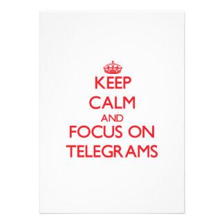 Keep Calm and focus on Telegrams Custom Invitation