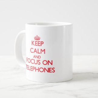 Keep Calm and focus on Telephones Jumbo Mug
