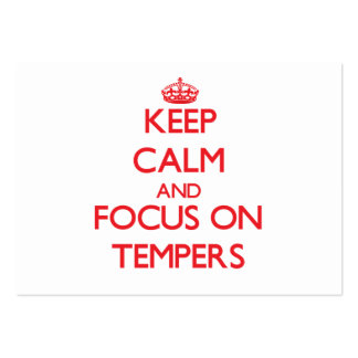 Keep Calm and focus on Tempers Pack Of Chubby Business Cards